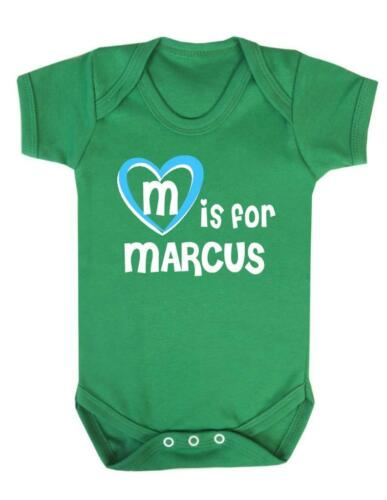 Marcus Baby Bodysuit M Is For Marcus Baby Vest Playsuit