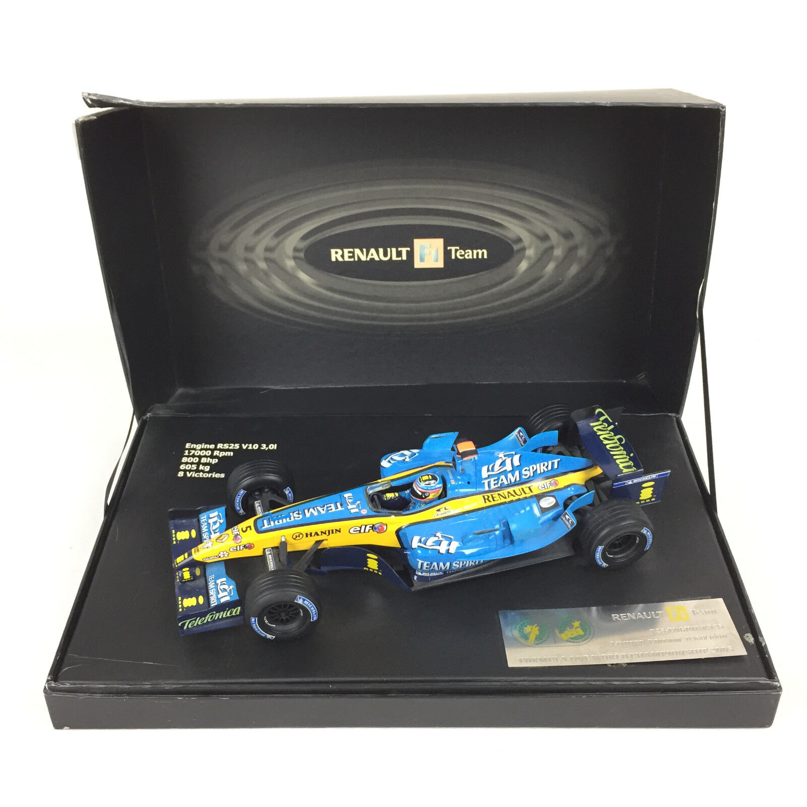 F1 R25 Engine RS 25 Formula One World Championship 2005 Alonso 1 18 Hot Wheels