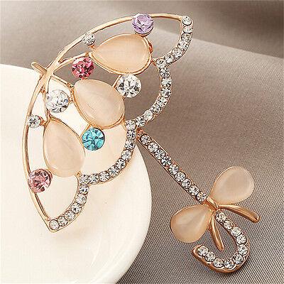 Gold gefüllt Opal Stein Fox Broschen Frauen Mode Tier Pin Brosche  X