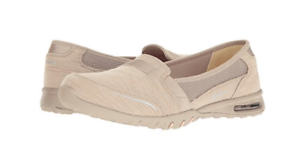 NEW SKECHERS EASY AIR SLIP ON LOAFER SHOES WOMENS 8.5 FREE SHIP TAUPE