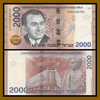 P-NEW UNC Hybrid Asia Paper Money 2018 Armenia 1000 Dram Banknote