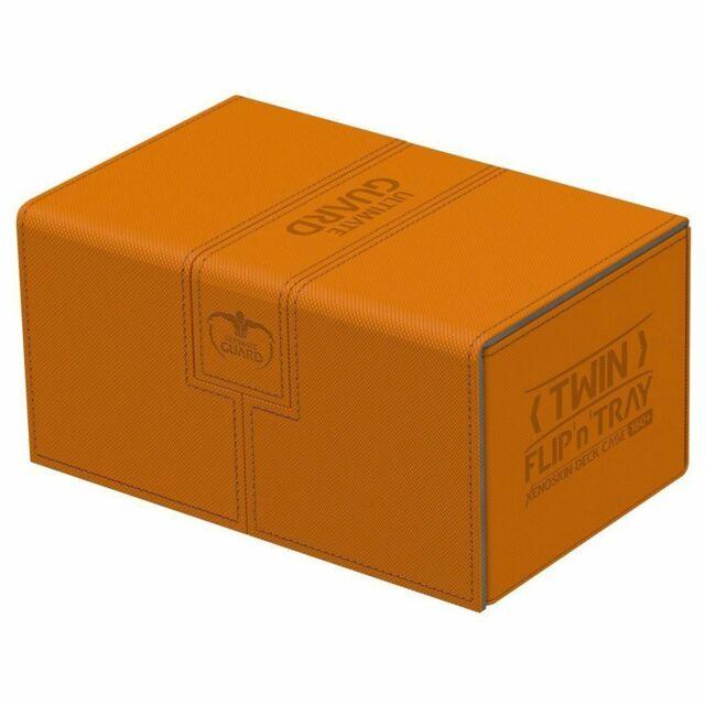 Deck Box Ultimate Guard Twin Flip n Tray 160+ Standard Size XENOSKIN Orange