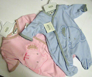 91ced495c NURSERY TIME   LITTLE ELLIE  EMBROIDERED COTTON SLEEPSUIT GIRLS BOYS ...