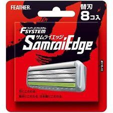 Japanese Feather Safety Razor Rasor F-system Samurai Edge 8 spare Blade Blades