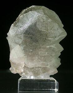 QUARTZ-GWINDEL-with-CHAMOSITE-Incl-Fine-Mineral-Specimen-Crystal-CHAMONIX-FRANCE
