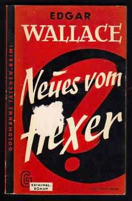 Krimis & Thriller ZuverläSsig Edgar Wallace 103/'59 Goldmanns Tb Elegantes Und Robustes Paket Bücher