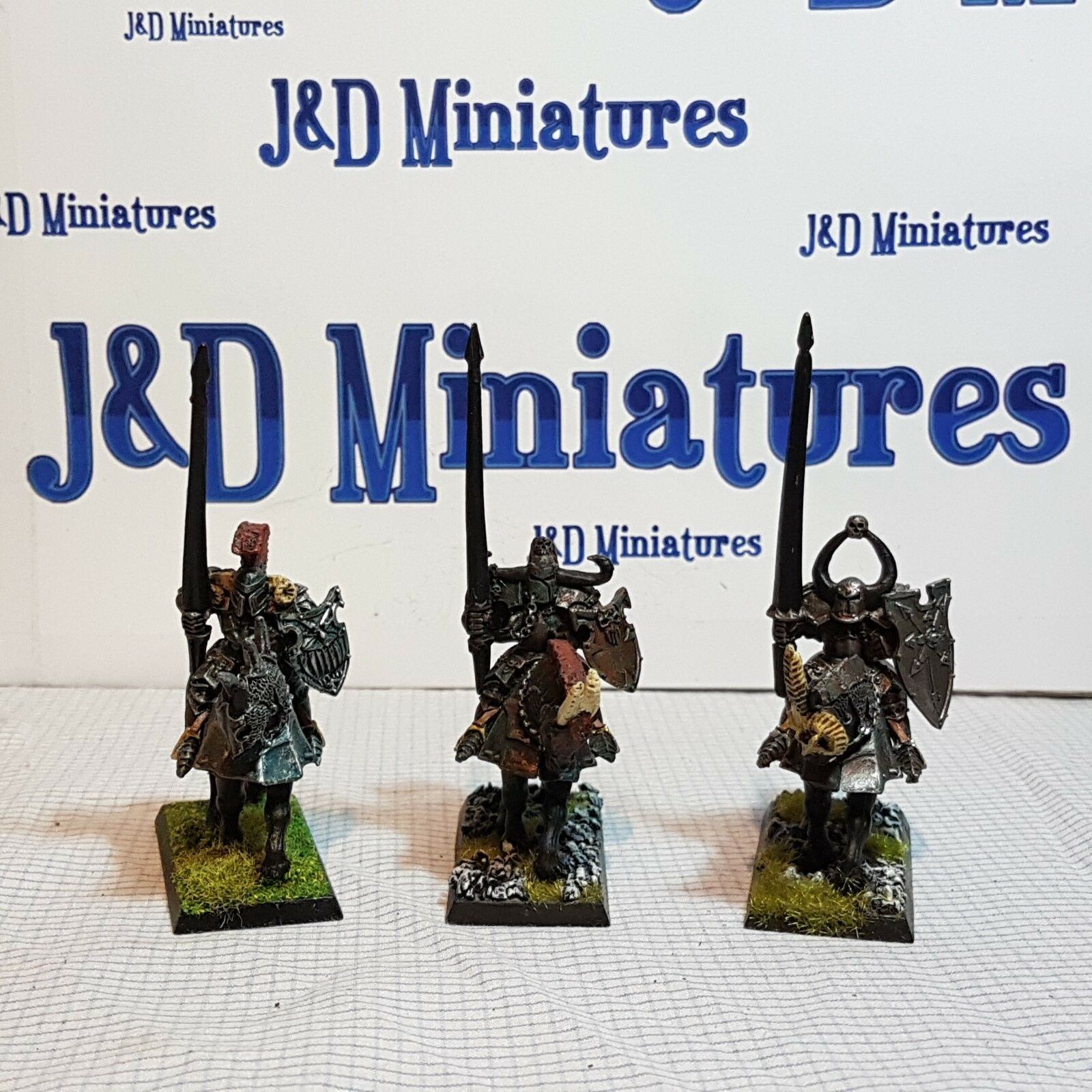 Games Workshop Warhammer Fantasy Battle Warriors of Chaos Knights Painted  Lot 6