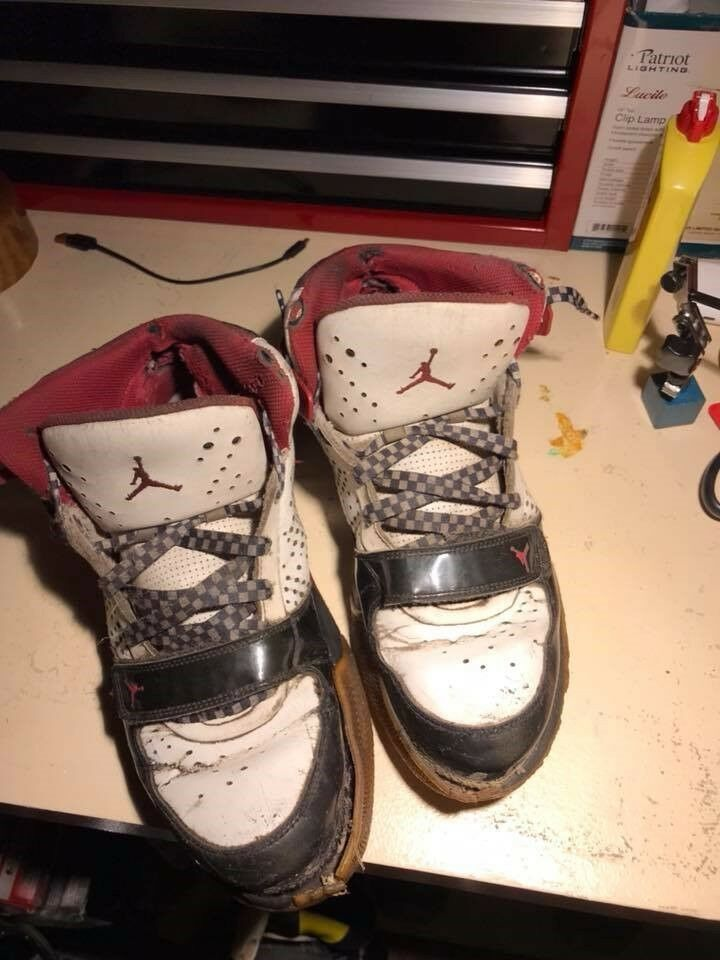 nike air jordans very worn condition, collectors only size 12