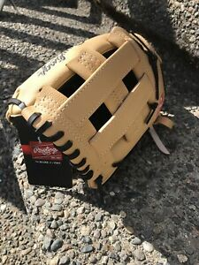 """Rawlings Left Hand Throw Youth Baseball Glove Size 11.5"""" PL115BC Players Series"""