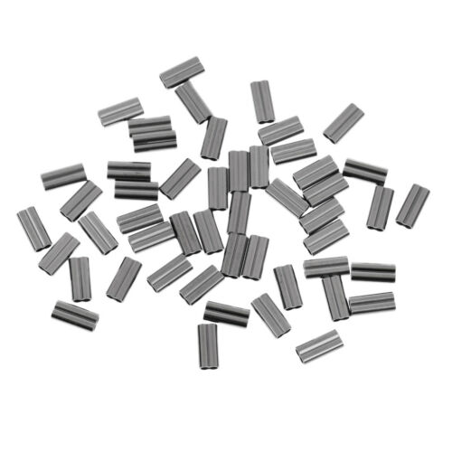 50pcs Double Barrel Crimping Sleeves 0.8//1//1.2//1.5//1.7//1.2//2.0mm Tube Connector