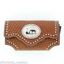 iPhone CASE ~ Belt Clip ~ Western Tooled Leather - CROSS - COWBOY PRAYER  16
