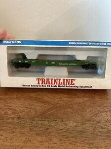 HO-Scale-WALTHERS-Trainline-931-601-50-039-Burlington-Northern-Steel-Flat-Car