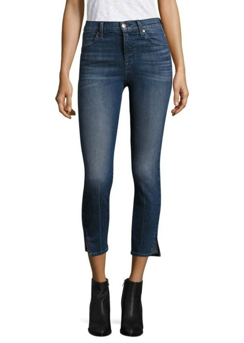 Alana High-Rise Cropped Slit Skinny Jeans Cover Size 24 Retail  198