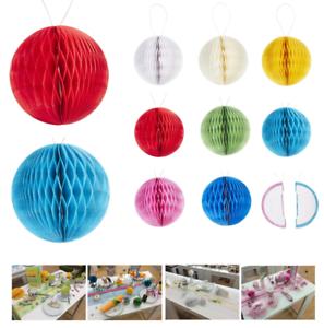 Wabenbaelle-Pompoms-Papier-Kugel-2er-4er-Set-Party-Dekoration-WABENBALL-Honeycomb