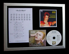 DAVID BOWIE Life On Mars LTD MUSIC CD QUALITY FRAMED DISPLAY+EXPRESS GLOBAL SHIP