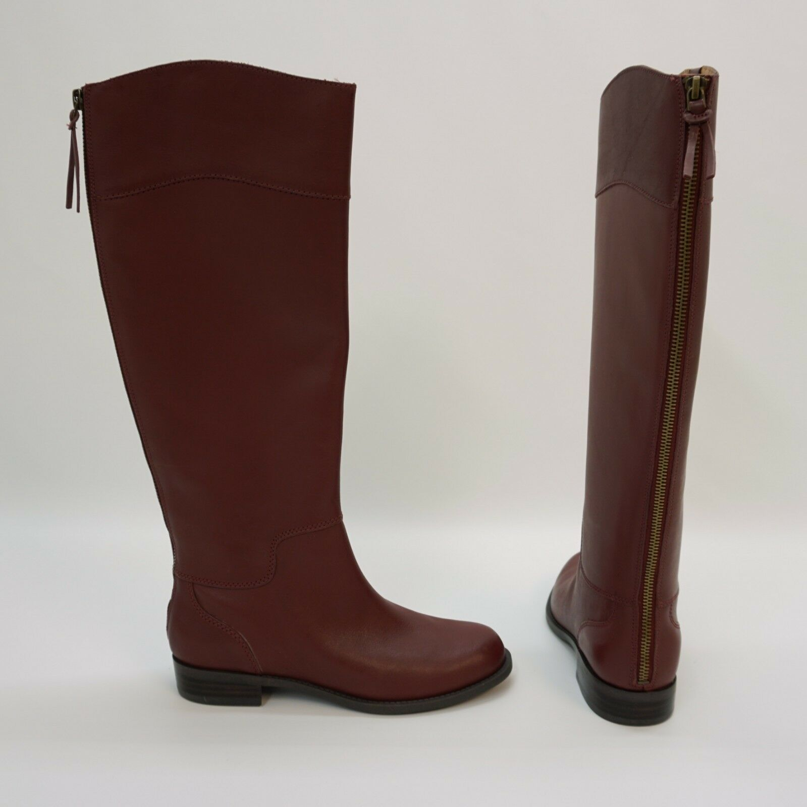 Nine West shoes Counter Tall Knee High Back Zipper Boots Wine Dark Red 5.5 M  169