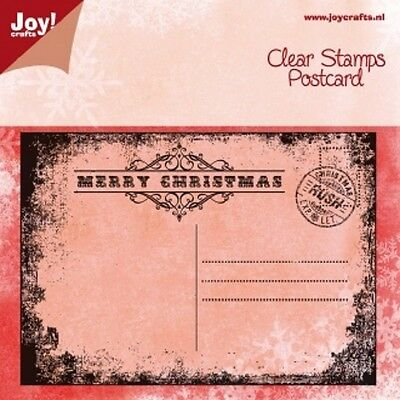 Joy Crafts  - Clear  Cling Stamp - POSTCARD CHRISTMAS  - 6410/0113  *