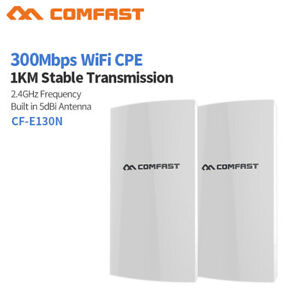 COMFAST-2pcs-WiFi-Wireless-Outdoor-CPE-300Mbps-Point-Access-Extender-Router-PoE