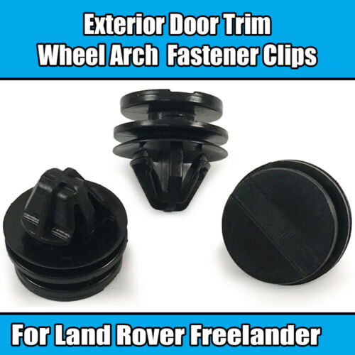 50x Clips For Land Rover Discovery Exterior Door Trim Wheel Arch Black Plastic