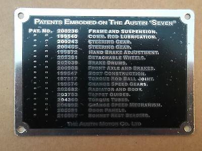 AUSTIN SEVEN Dashboard brevetto Plate-MAGNETO con motore modelli 1923-1928