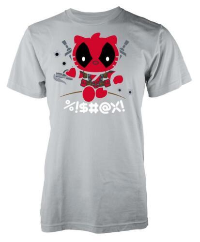 Kitty Hello Deadpool Mashup Kids T Shirt