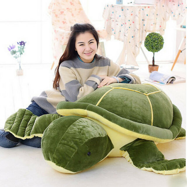 59 Giant Huge Big Plush Tortoise Turtle Stuffed Animal Soft Toy