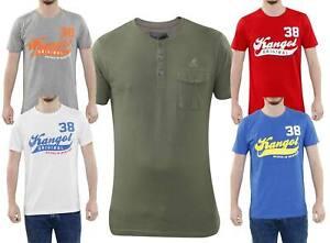 Da Uomo Printed T-SHIRT COTONE GIROCOLLO MANICHE CORTE BIANCO S-2XL T-shirt Crosshatch