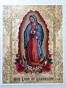 ca406833a70e5 Details about OUR LADY OF GUADALUPE 8x10 Virgin Mary Custom Catholic Art  Picture Print Mexico