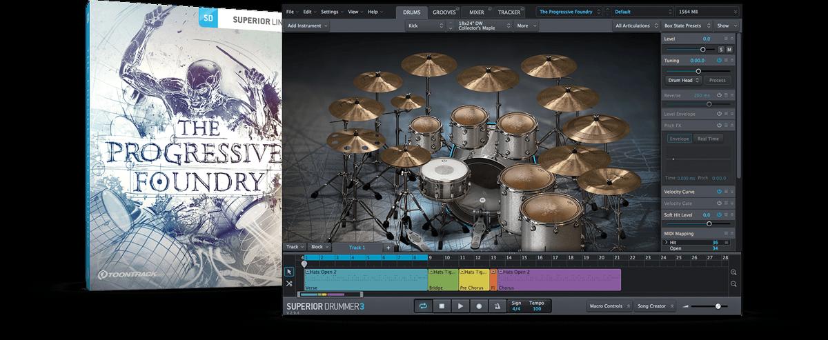 Toontrack Superior Drummer SDX - Progressive Foundry - New Serial License Key