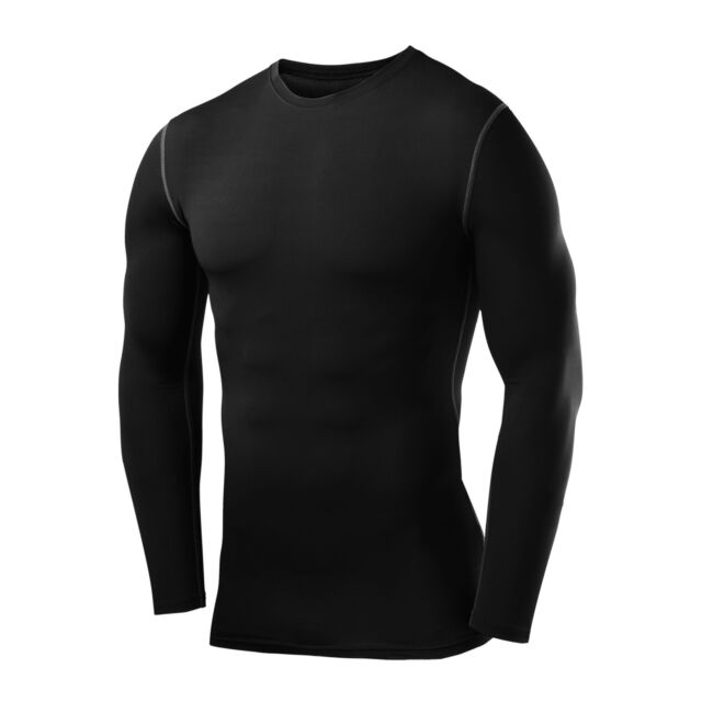 UK Mens Gym Body Armour Compression Baselayers Thermal Under Shirt Top Skins Fit