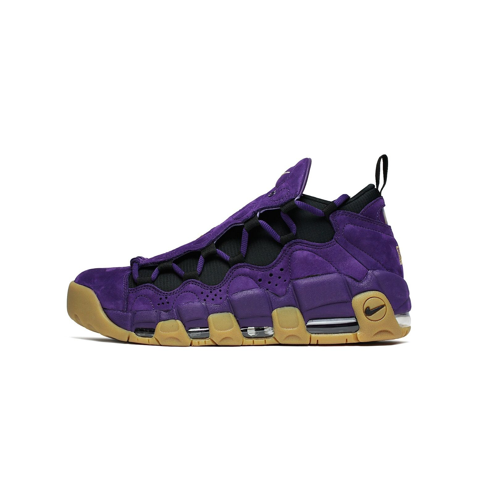 Mens Nike Air More Money Leopard Night Purple Metallic Gold Black AR5401-500 Brand discount