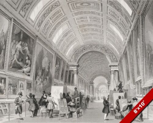 THE GRAND GALLERY AT THE LOUVRE PARIS FRANCE CANVAS GICLEE 8X10 FRENCH ART PRINT