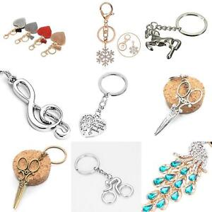 Key Chains Flamingo Keyring Handbag Rhinestone Crystal Charm Pendant Necklace #2