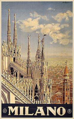 c.1920s Milano Fine Art Print Vintage Poster Art Reproduction