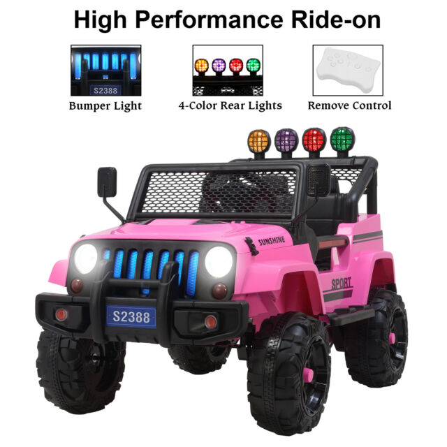 12v Kids Ride On Toy Car Jeep Wrangler Electric Battery W Remote