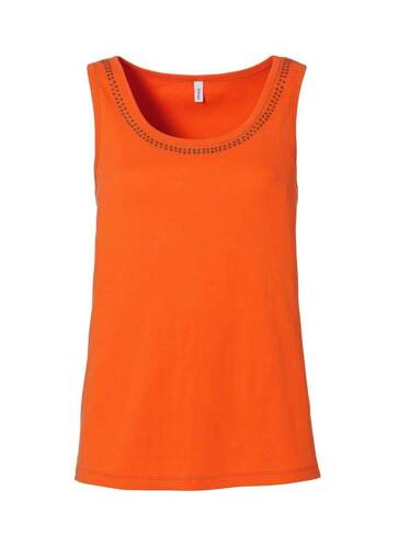 Sheego Top Spitze Orange Shirt Gr  50 52 58