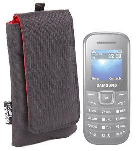 Détails sur Noir Classique téléphone étui pour Samsung E1200 & Samsung E1190- afficher le titre d'origine