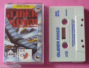 Sinclair-ZX-Spectrum-Bug-Byte-GLIDER-RIDER-Quicksilva-1988-NEW