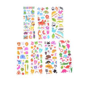 6-Sheets-Cute-Cartoon-Animal-Scrapbooking-Bubble-Puffy-Stickers-Reward-Kids-039-Toy