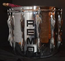 "VTG Quadura Snare Drum by REMO Chrome 14"" x 12"" WORKS but AS IS"