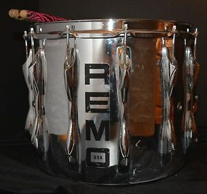 VTG-Quadura-Snare-Drum-by-REMO-Chrome-14-034-x-12-034-WORKS-but-AS-IS