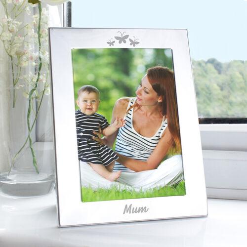 noël anniversaire Les membres de la famille gravé papillon cadre photo-cadeau pour elle