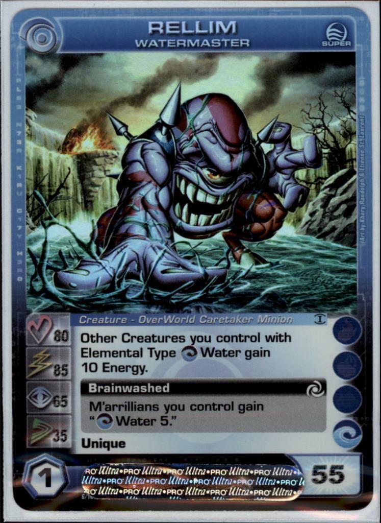 (cc1020) RELLIM Chaotische Card (Courage 80 Power 85 Wijsheid 65 Speed 35 Energie 55)