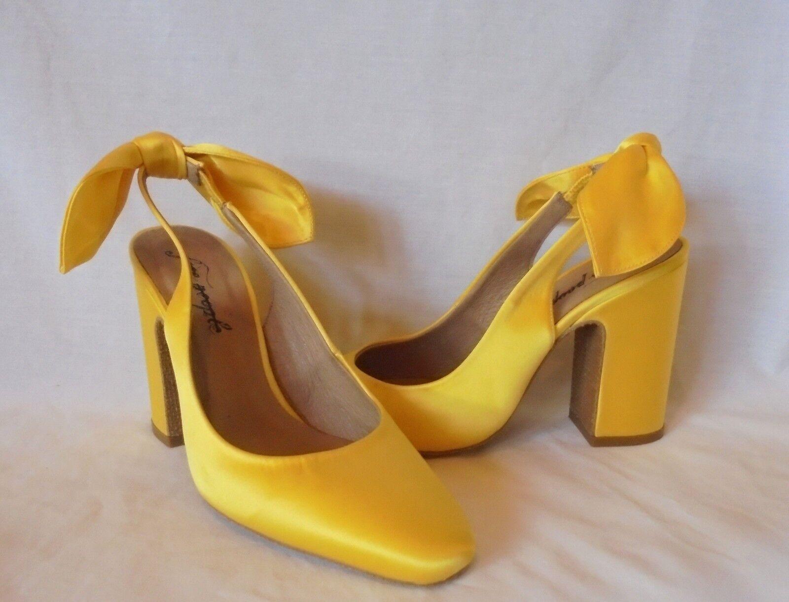 Free People Women's Dazzle Dazzle Satin Slingback Heels Retail  128 size 5