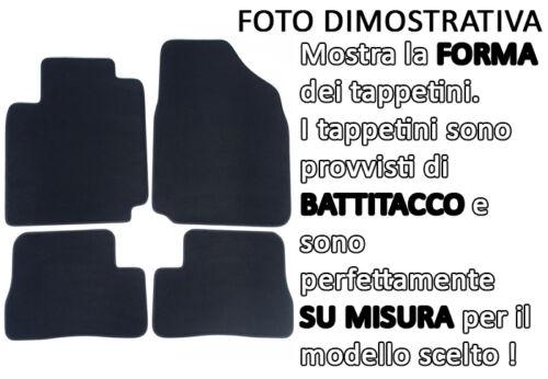 Tappetini Tappeti in Moquette Velluto per Nissan Micra K12 02-2010 battitacco