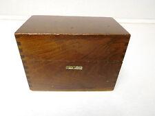 Vintage Globe Wernicke Wood Index Recipe Card File Box No 83 C