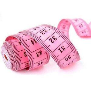 pink measure tape 150cm 60 sewing craft sew tailor body ruler measuring 5012876393570 ebay. Black Bedroom Furniture Sets. Home Design Ideas