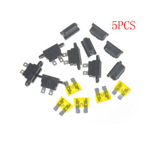 5X Amp Auto Blade Standard Fuse Holder Box for Car Boat Truck with Cover 30A
