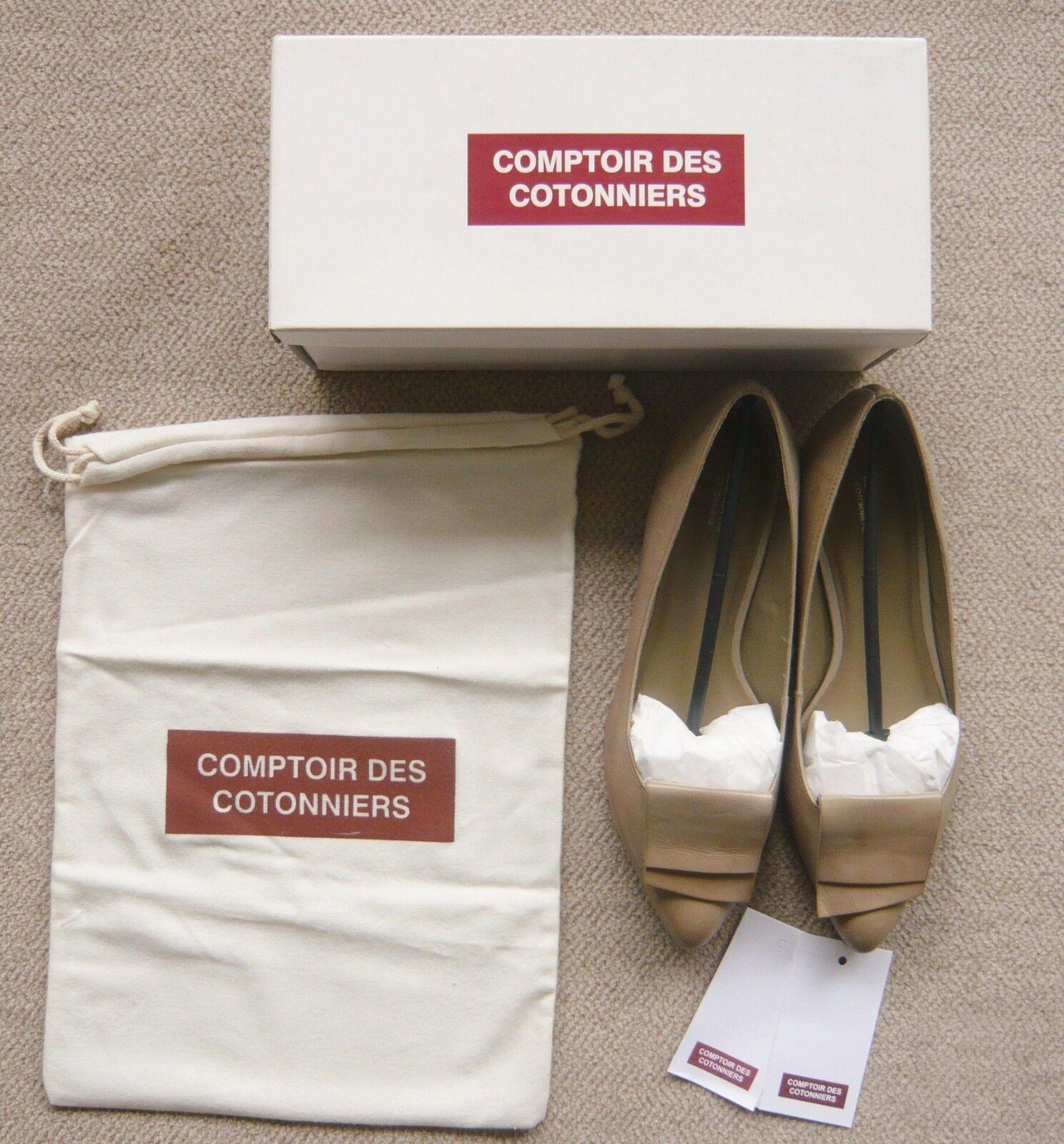 COMME NEUVES   SUPERBES BALLERINES BEIGE COMPTOIR DES COTONNIERS T40