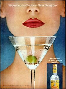 1979 woman red lips Fleischmann's gin martini glass vintage photo print ad ads37